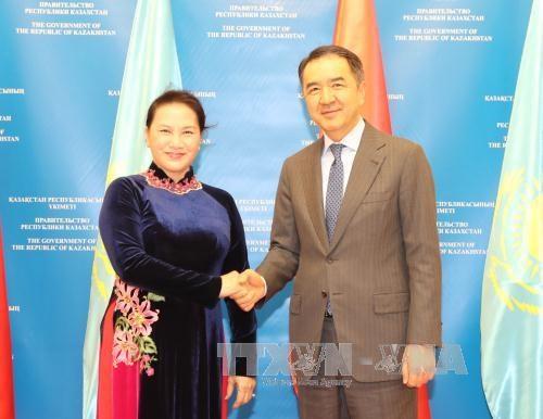国会主席阮氏金银礼节性拜会哈萨克斯坦总理萨金塔耶夫 hinh anh 1