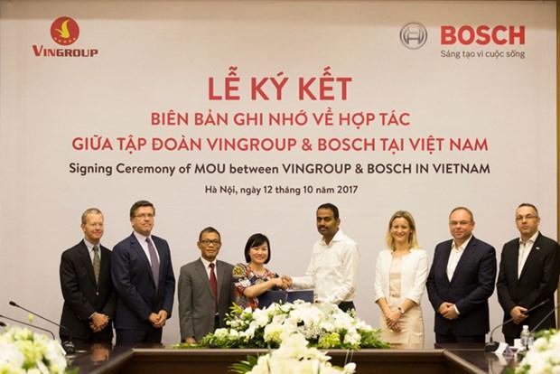 越南温纳集团与博世越南合作生产汽车和电动摩托车 hinh anh 1
