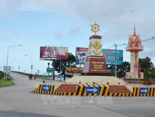 设在戈公省省会克马拉普明市的越柬友谊纪念碑正式落成 hinh anh 3
