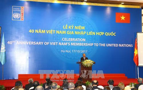 政府总理阮春福出席越南加入联合国40周年纪念典礼 hinh anh 1