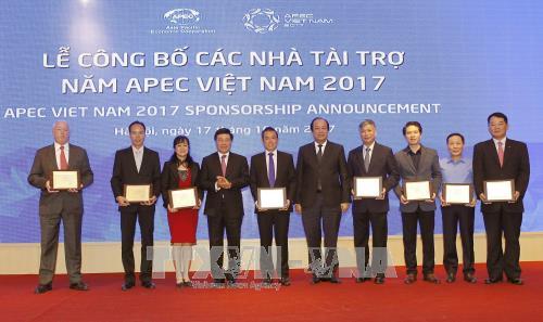 2017年APEC会议赞助商名单正式公布 hinh anh 1