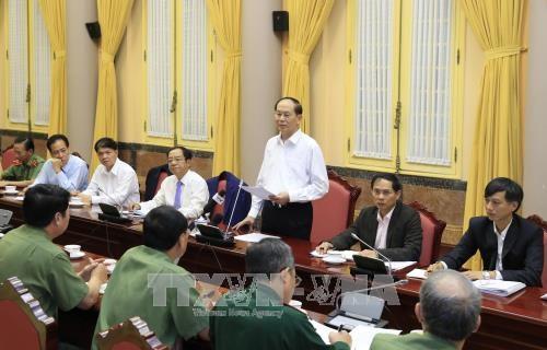 陈大光:努力保证2017年APEC领导人会议周期间绝不出现任何差错 hinh anh 1