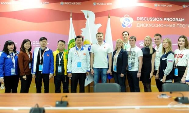 越南代表团在世界青年大学生联欢节期间继续开展各项双边活动 hinh anh 1