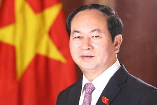 越南国家主席陈大光就葡萄牙中部森林火灾向葡总统马塞洛致慰问电 hinh anh 1