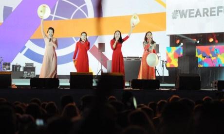 世界青年与学生联欢节:越南做开场表演 hinh anh 3