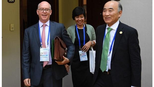 丁进勇分别会见美国财政副部长和国际货币基金组织副总裁 hinh anh 1