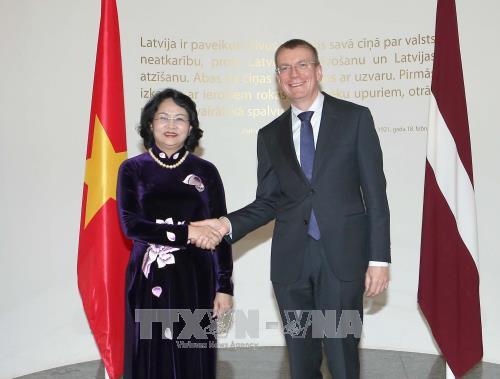 拉脱维亚希望与越南加强多方面的合作 hinh anh 2