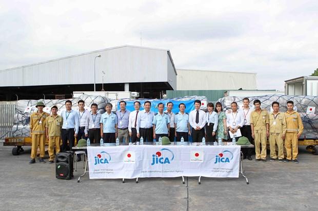 越南接受由日本政府提供的紧急援助物资 hinh anh 4