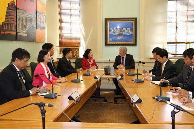 越共中央民运部长张氏梅对新西兰进行工作访问 hinh anh 1