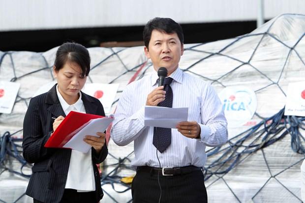 越南接受由日本政府提供的紧急援助物资 hinh anh 3