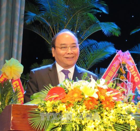 阮春福出席广南—岘港特区区委成立50周年纪念典礼 hinh anh 1