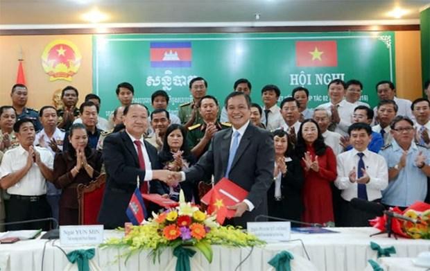 越南坚江省与柬埔寨西哈努克省加强合作 hinh anh 1