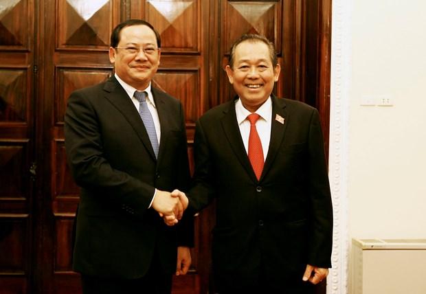 越南政府副总理张和平与老挝政府副总理宋赛 • 西潘敦举行会谈 hinh anh 1