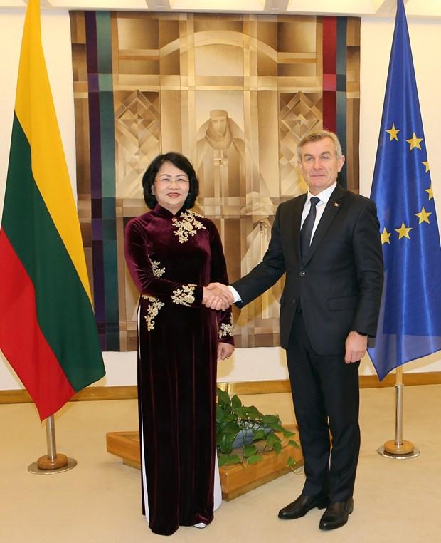 国家副主席邓氏玉盛对立陶宛进行工作访问 hinh anh 2