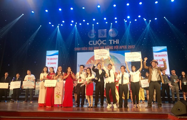 越南岘港大学生与2017年APEC会议知识竞赛进入总决赛 hinh anh 1