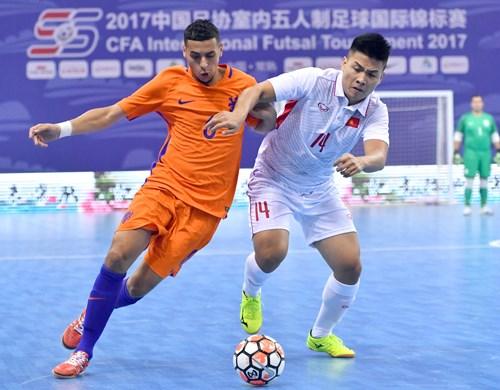 2017中国足协室内五人制足球国际锦标赛:越南居第三位 hinh anh 1