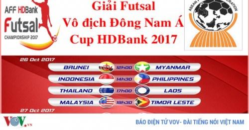越南承办HD Bank杯室内五人制足球东南亚锦标赛 hinh anh 1