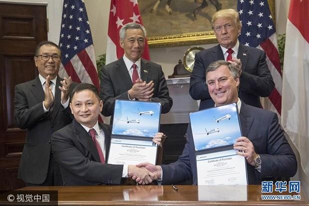 新加坡航空公司与美国波音公司签署价值138亿美元的客机购买协议 hinh anh 1
