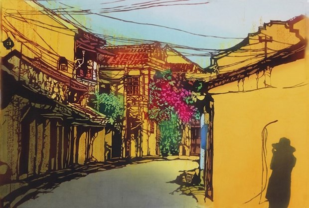 """日本女画家""""缩小世界中的越南""""画展在岘港正式开幕 hinh anh 1"""