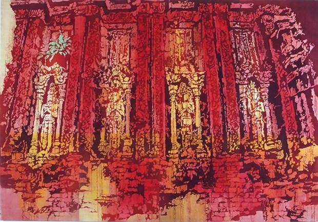 """日本女画家""""缩小世界中的越南""""画展在岘港正式开幕 hinh anh 3"""