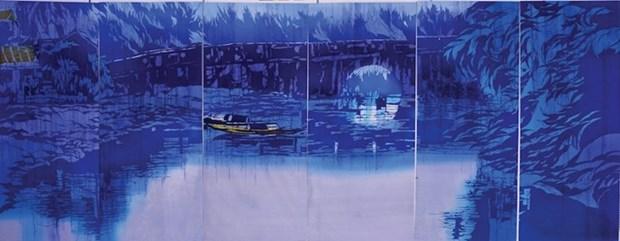 """日本女画家""""缩小世界中的越南""""画展在岘港正式开幕 hinh anh 2"""