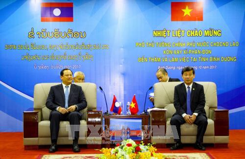 老挝政府副总理宋赛•西潘敦访问平阳省 hinh anh 2