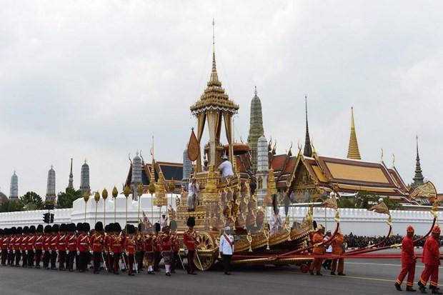 泰国先王普密蓬遗体火化仪式举行 越南国家副主席邓氏玉盛出席 hinh anh 1