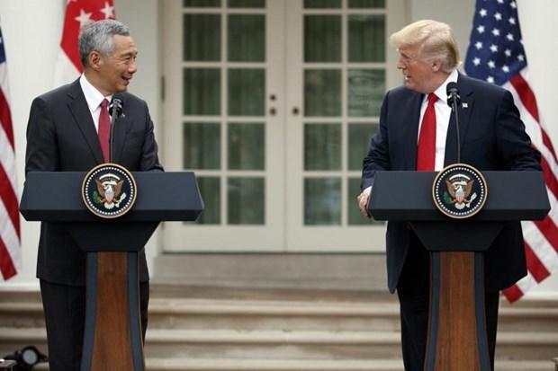 美国与新加坡加强经济与防务合作 hinh anh 1