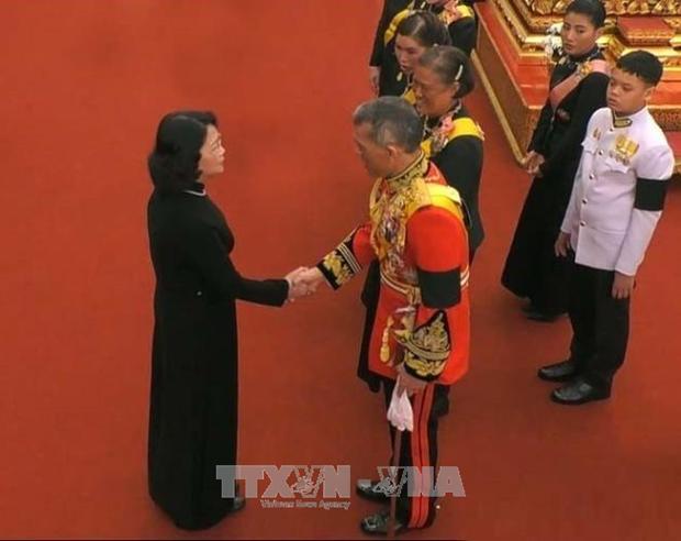 越南国家副主席邓氏玉盛出席泰国先王普密蓬遗体火化仪式 hinh anh 1