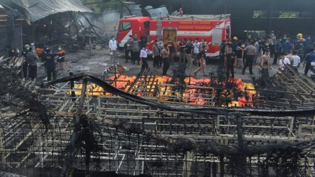 印度尼西亚一座烟花厂爆炸 近50人死亡 hinh anh 1
