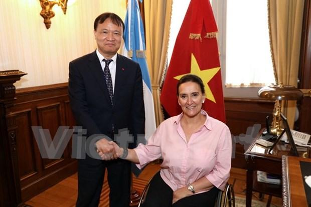 阿根廷副总统:越南是阿根廷贸易投资最为重要的伙伴之一 hinh anh 1