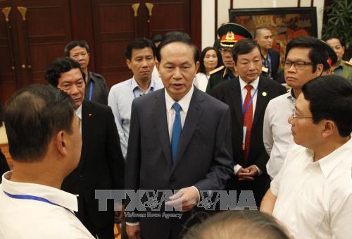 国家主席陈大光对2017年APEC领导人会议周各项活动进行总审 hinh anh 1