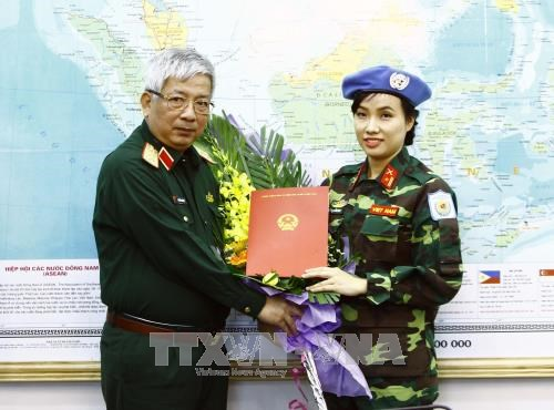 越南首次派遣维和女军官 hinh anh 1