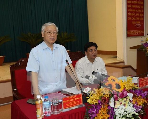 阮富仲总书记:乂安省应实现重大突破 成为北中部地区经济社会发展的助推器 hinh anh 1