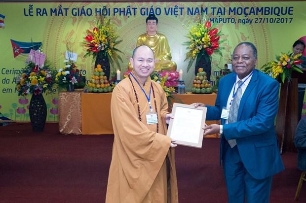 在莫越南佛教协会正式亮相 hinh anh 2
