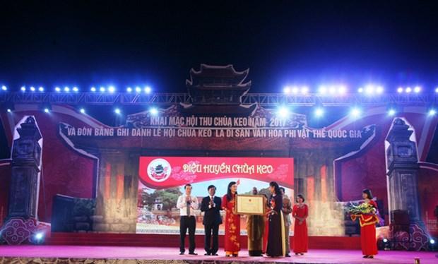 越南太平省神光寺庙会被公认为国家级非物质文化遗产 hinh anh 1