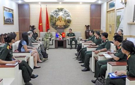 越南与美国和澳大利亚加强联合国维和领域合作 hinh anh 1