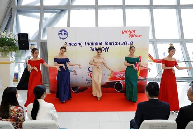 泰国越捷航空印有泰国旅游标志的第二架飞机正式现身 hinh anh 2