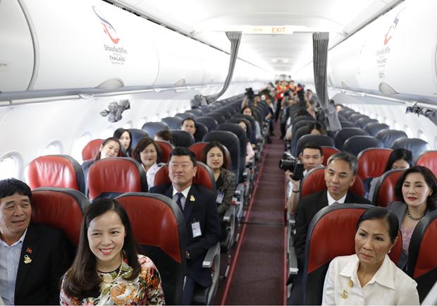 泰国越捷航空印有泰国旅游标志的第二架飞机正式现身 hinh anh 3