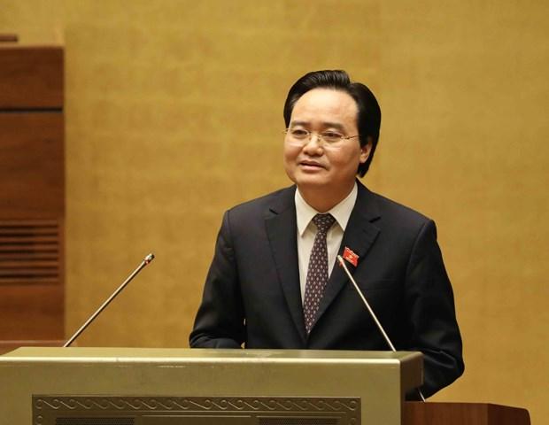 国会对推移新普通教育课程和教科书规划的实施时间表示赞同 hinh anh 1