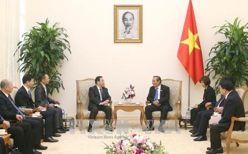 政府常务副总理张和平会见中国公安部常务副部长傅政华 hinh anh 1