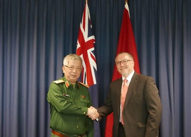 首次越澳国防政策对话会在澳大利亚召开 hinh anh 1