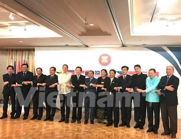 东盟各国驻韩大使馆举行东盟建立50周年纪念典礼 hinh anh 1