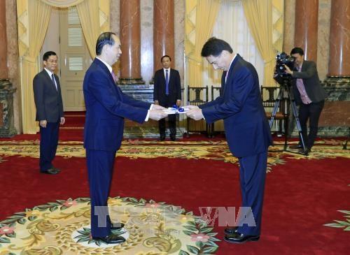 国家主席陈大光接受三国新任驻越大使递交的国书 hinh anh 2
