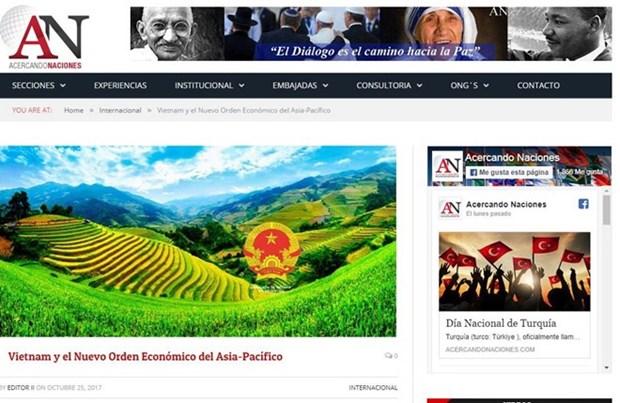 APEC 2017: 阿根廷媒体高度评价越南经济社会发展成就 hinh anh 1