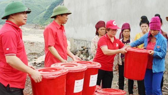 """越南红十字会为遭受强台风""""达维""""影响的省份提供紧急救助 hinh anh 1"""