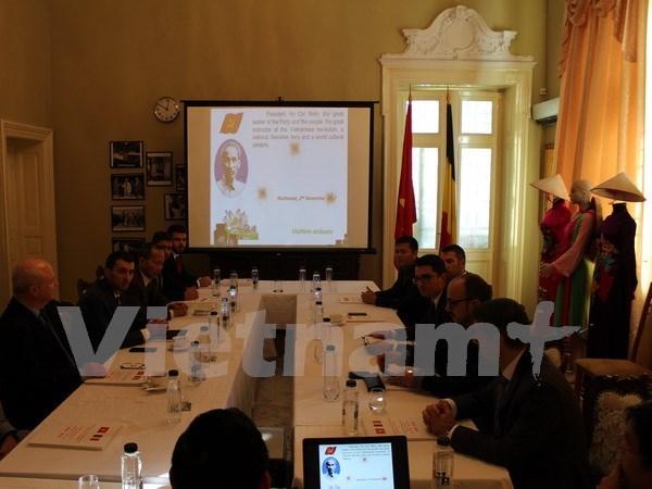 有关胡志明主席的研讨会和图片展在罗马尼亚举行 hinh anh 1