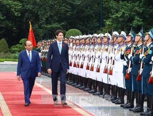 政府总理阮春福与加拿大总理特鲁多举行会谈 hinh anh 2