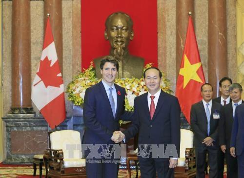 国家主席陈大光会见加拿大总理特鲁多 hinh anh 1
