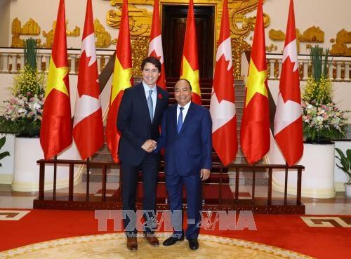 政府总理阮春福与加拿大总理特鲁多举行会谈 hinh anh 3